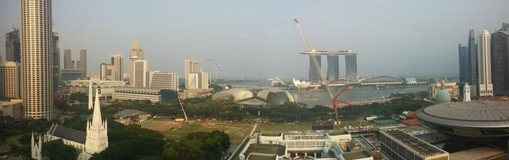 Marina Bay view from hotel